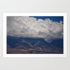 Maui Mountains Art Print