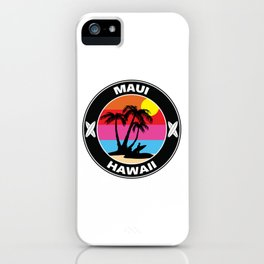 Surf Maui Hawaii iPhone Case