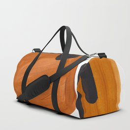 Mid Century Vintage 70's Design Abstract Minimalist Colorful Pop Art Duffle Bag