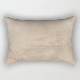 Burst of Color Pantone Hazelnut Abstract Watercolor Blend Rectangular Pillow