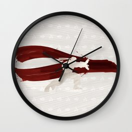 Friendship & Fireballs (Homage to Ryu of Street Fighter) Wall Clock