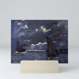 A Seascape, Shipping by Moonlight by Claude Monet Mini Art Print
