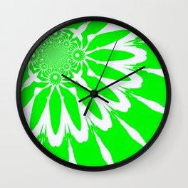 The Modern Flower Lime Green Wall Clock