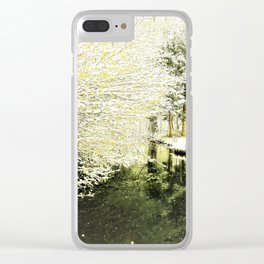 spring begins at the river Clear iPhone Case