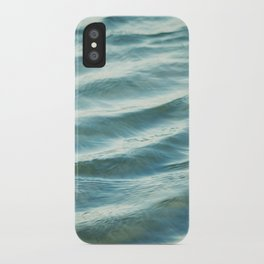 Water Abstract Photography, Ocean Ripples, Blue Teal Sea iPhone Case
