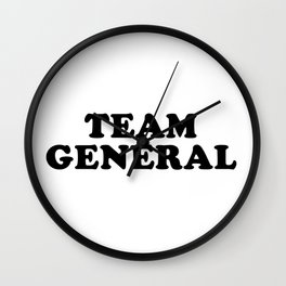 TEAM GENERAL Wall Clock
