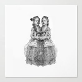Sisters Twins Canvas Print