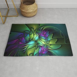 Colorful And Abstract Fractal Fantasy Rug