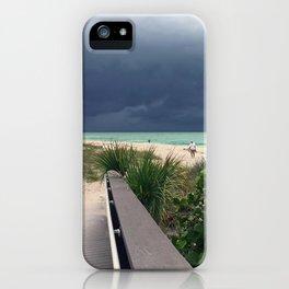 Stormy Sky, Aqua Sea iPhone Case