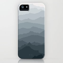 Silver Dew Mountains iPhone Case