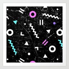 Memphis Grunge Art Print