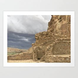 Chaco Canyon gathering Storm Art Print