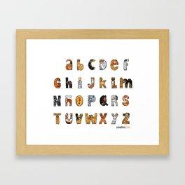 Perruna Font / Dog font Framed Art Print