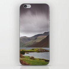 Rain clouds over Scafell and Great Gable. Wastwater, Cumbria, UK. iPhone & iPod Skin