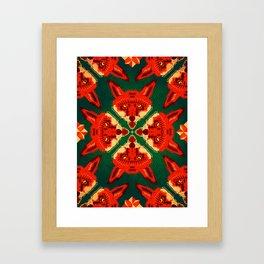 Fox Cross geometric pattern Framed Art Print