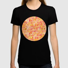 Orange Giraffe Print T-shirt