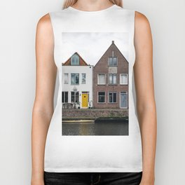 Row houses and Canal in The Netherlands Biker Tank