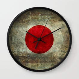 National flag of Japan - Super Grunge Wall Clock