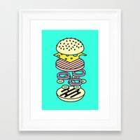 burger Framed Art Prints featuring Burger by Jan Luzar