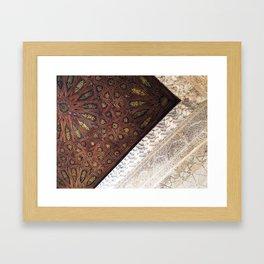 + golden intricacy  Framed Art Print