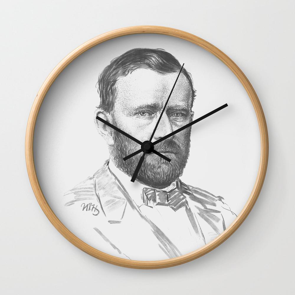 General Ulysses S Grant Wall Clock By Warishellstore Society6