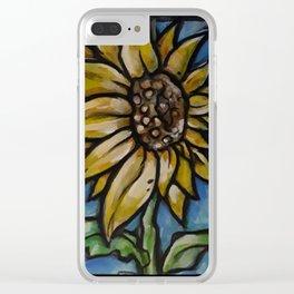 Sun.... uh.... flower Clear iPhone Case
