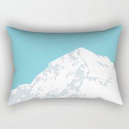 Snow Capped Mountain Rectangular Pillow