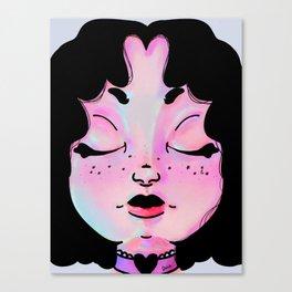 The Girl under the rainbow lights  Canvas Print