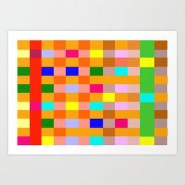 Colorful patern Art Print