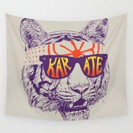 Karate Tiger Wall Tapestry