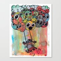 baloon Canvas Prints featuring baloon by Hugo Lucas