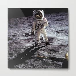 Buzz Aldrin on the Moon Metal Print