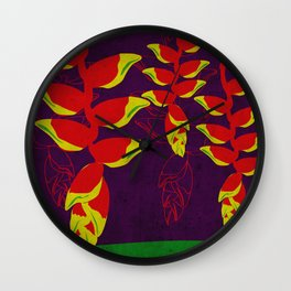 Flowers: Crab Claws Wall Clock