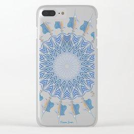 Tribal Sailfish Mandala V2 Clear iPhone Case