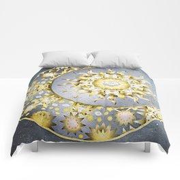 Golden Moon and Sun Comforters