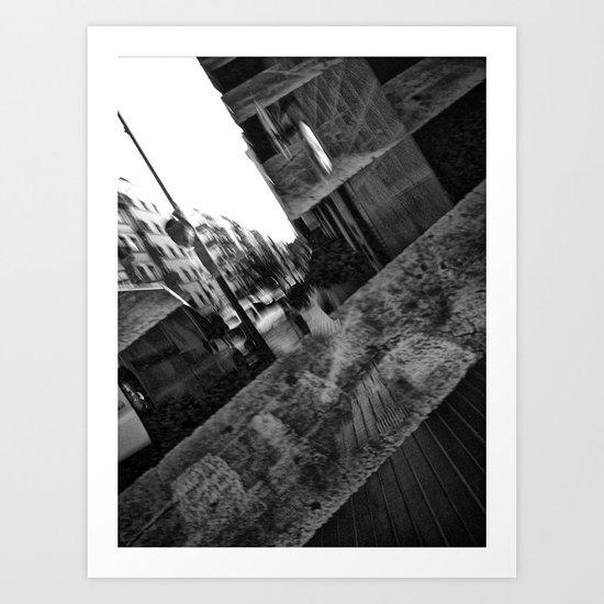 as impediment or pedestal; Art Print