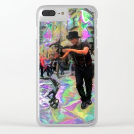 """43/52: """"Tourist in your own city/town/street"""" Clear iPhone Case"""