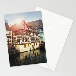 Traditional timbered houses Stationery Cards