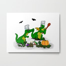 Dragons - Happy Halloween ! Today I will cook Metal Print