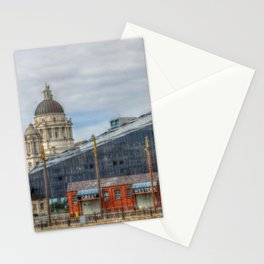 Liverpool old and new Stationery Cards