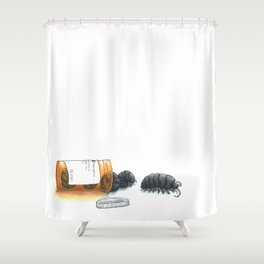 Pill bugs Shower Curtain