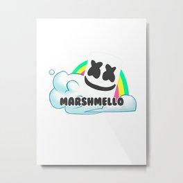 Rainbow marshmello Metal Print