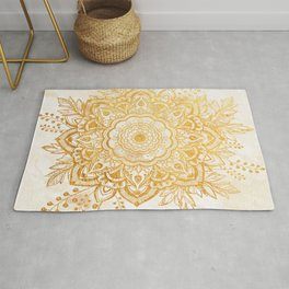 Queen Starring of Mandala-Gold Sunflower II Rug