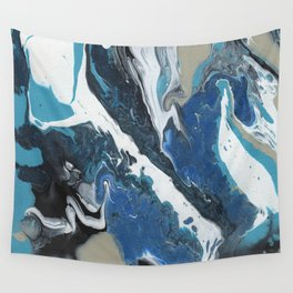 Oceanic 2 of 2 series - Fluid Acrylic Painting Print Wall Tapestry