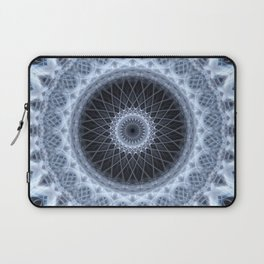 Silver and gray mandala Laptop Sleeve