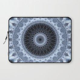 Silver and gray mandala Laptop Sleeve
