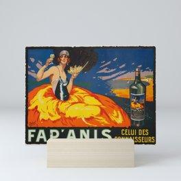 1930 'Fap' Anis' Aperitif  Vintage Poster Mini Art Print