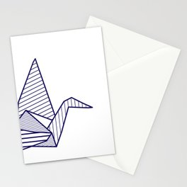 Swan, navy lines Stationery Cards