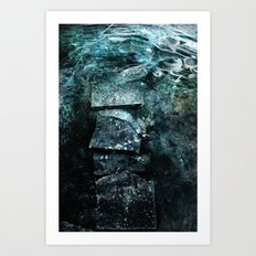 Cold waters Art Print