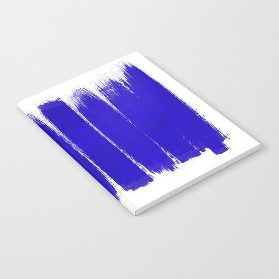 Shel - abstract painting painterly brushstrokes indigo blue bright happy paint abstract minimal mode Notebook